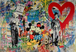 Juxtapose by Mr. Brainwash - Original on Canvas sized 55x80 inches. Available from Whitewall Galleries